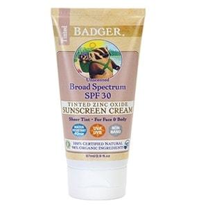 Badger Balm Spf30 Tinted Sunscreen Cream - Unscented